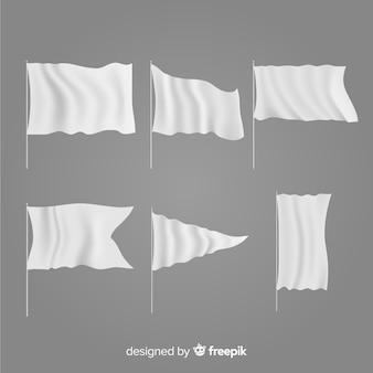 Verzameling van textiel vlaggen