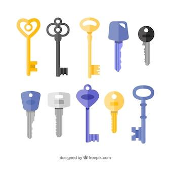 Verzameling van tien sleutels