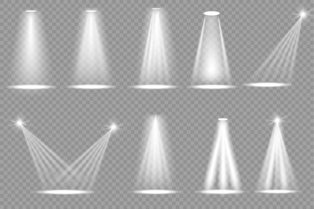 Verzameling van toneelverlichting schijnwerpers scène toneelverlichting grote collectie projector lichteffect