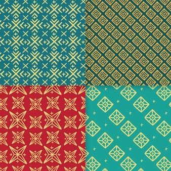 Verzameling van traditionele songket-patronen