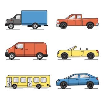 Verzameling van transport iconen