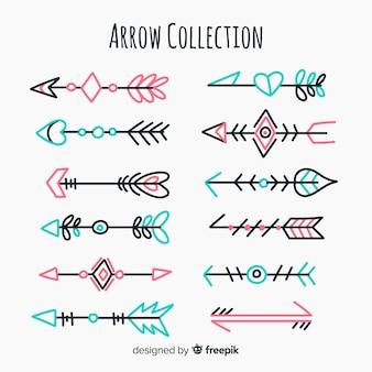 Verzameling van tribale pijlen