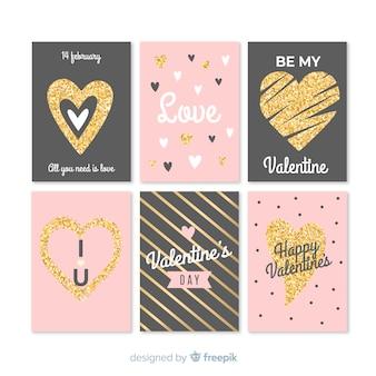 Verzameling van valentijn kaarten