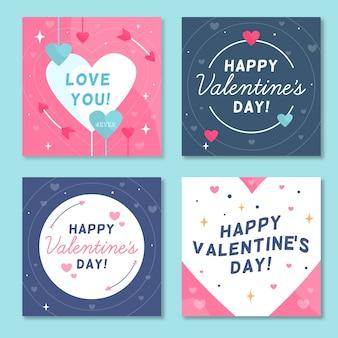 Verzameling van valentijnsdag instagram post