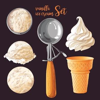 Verzameling van vector ijsjes