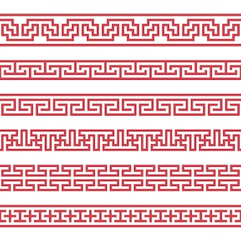 Verzameling van vector koreaanse grenzen