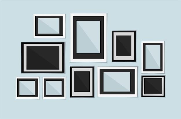 Verzameling van vector lege fotolijsten
