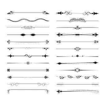 Verzameling van vector scheidingslijnen.