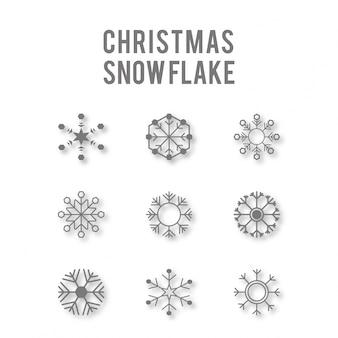 Verzameling van vector sneeuwvlokken