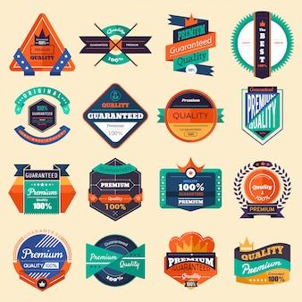 Verzameling van vector stickers en badges