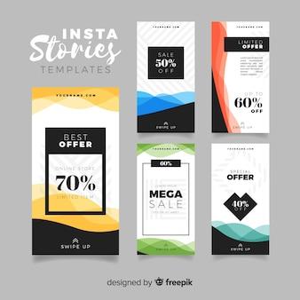Verzameling van verkoop instagram verhalen sjablonen