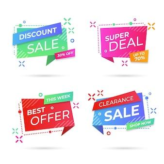Verzameling van verkooppromotiebadges