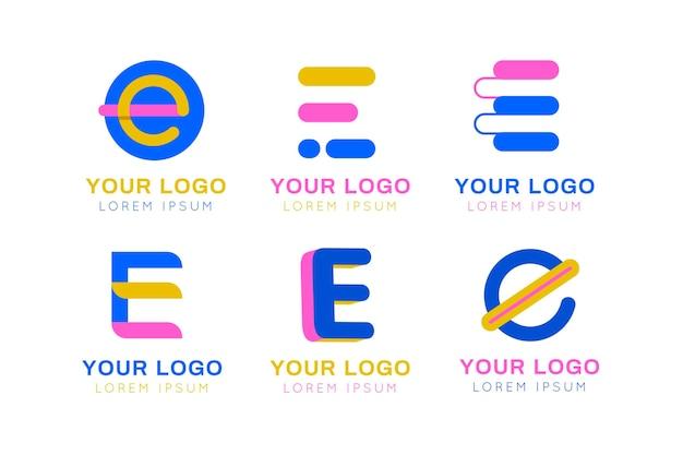 Verzameling van verschillende e-logo's