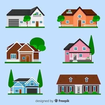 Verzameling van verschillende huizen