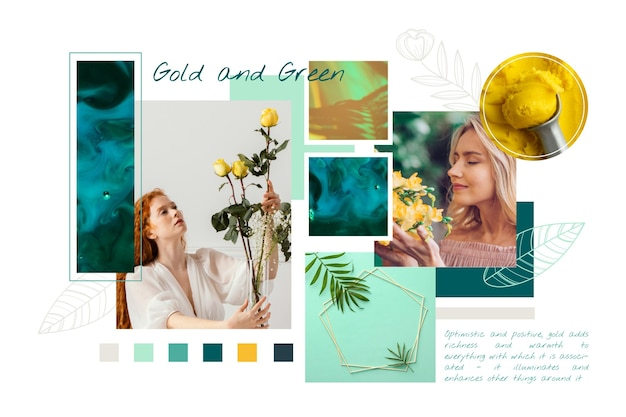 Verzameling van verschillende kleurtinten van verschillende afbeeldingen