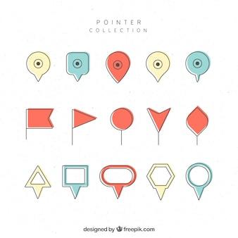 Verzameling van verschillende pointers