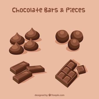 Verzameling van verschillende soorten chocolade