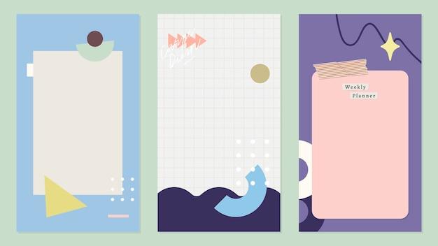 Verzameling van verticaal kleurrijk bannersontwerp