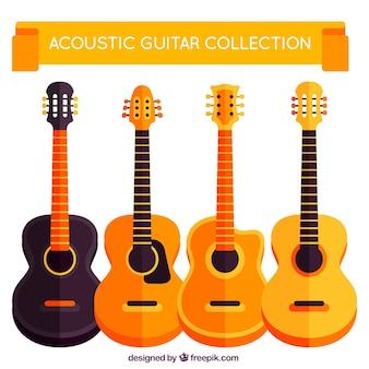 Verzameling van vier akoestische gitaar