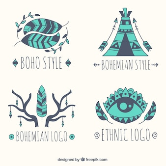 Verzameling van vier etnische logos