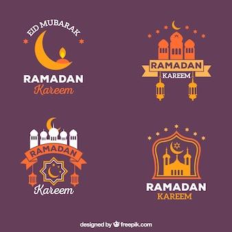 Verzameling van vier ramadan badges