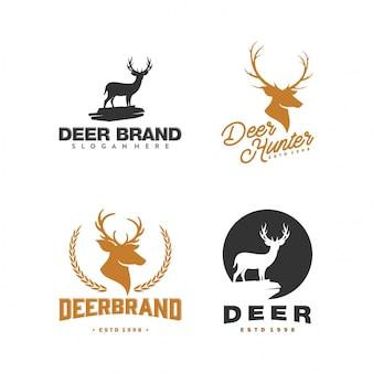 Verzameling van vintage herten logo