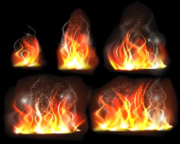 Verzameling van vlammen