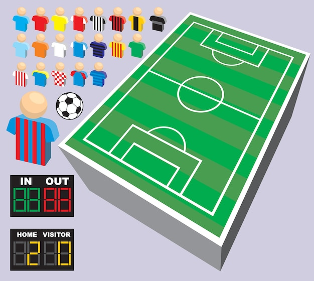 Verzameling van voetbal