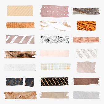 Verzameling van washi-banden