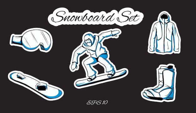 Verzameling van wintersport illustratie