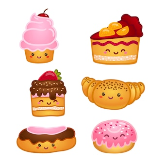 Verzameling van zoete gebakjes