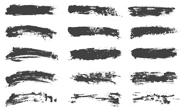 Verzameling van zwarte borstels