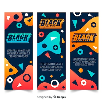 Verzameling van zwarte vrijdag banners