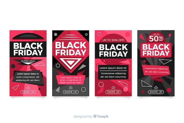 Verzameling van zwarte vrijdag instagram-verhalen