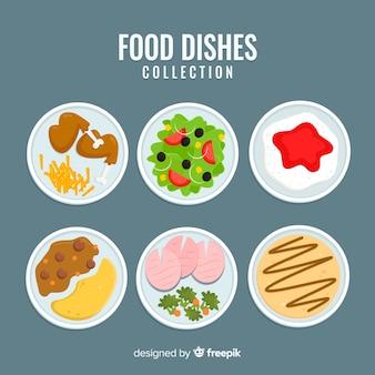 Verzameling voedselgerechten