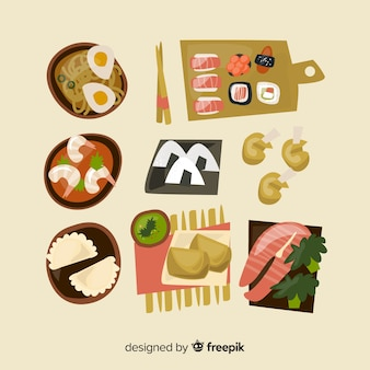 Verzameling voedselschotels