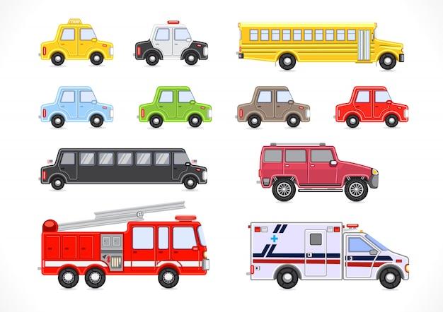 Verzameling voertuigen