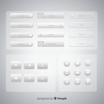 Verzameling webcollectie knoppen