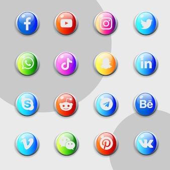Verzamelpakket voor sociale media-pictogrammen