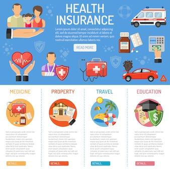 Verzekeringsdiensten infographics