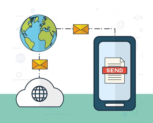 Verzend e-mailconcept