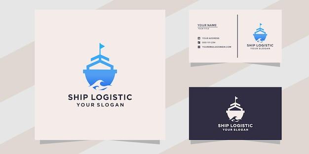 Verzend logistiek logo sjabloon