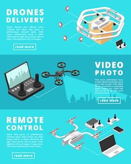 Verzending, bewaking, controle met onbemande drones
