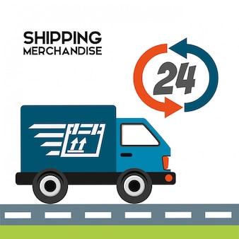 Verzending logistiek illustratie