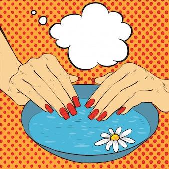 Verzorging van manicure en nagels