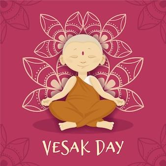 Vesak-dag met monnik