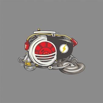 Vespa-motor illustratie