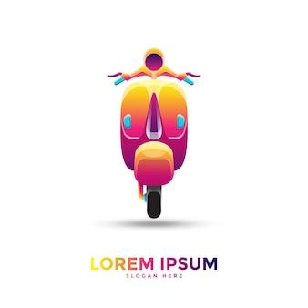 Vespa motorfiets logo sjabloon
