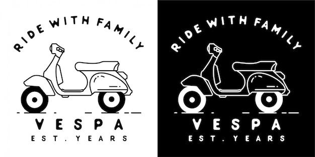Vespa-scooterontwerp