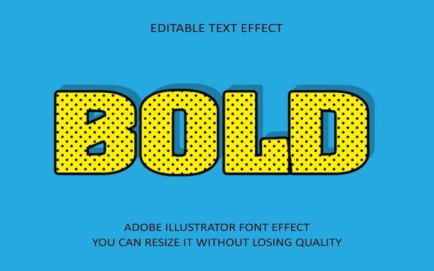 Vet bewerkbaar teksteffect